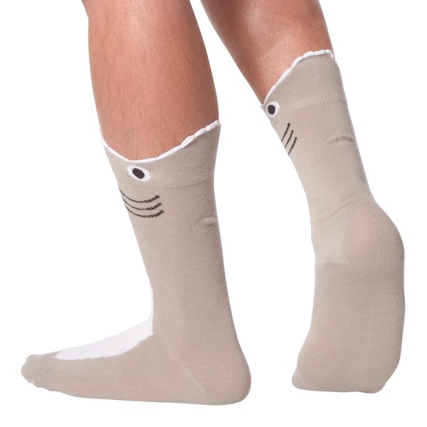 Men's Wide Mouth Shark Crew Socks