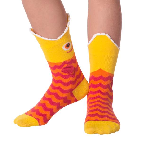 Kid's Wide Mouth Piranha Crew Socks