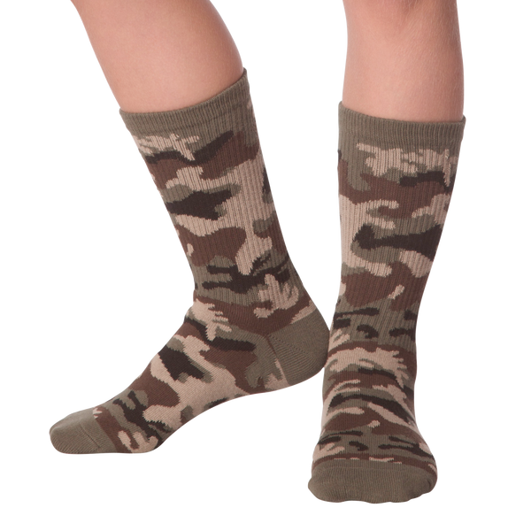 Kid's Camouflage Crew Socks