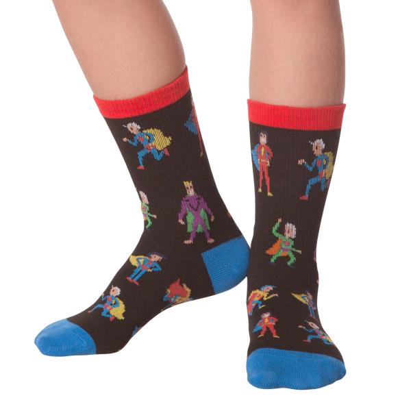 Kid's Superheroes Crew Socks