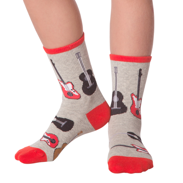 Kid's Guitars Crew Socks