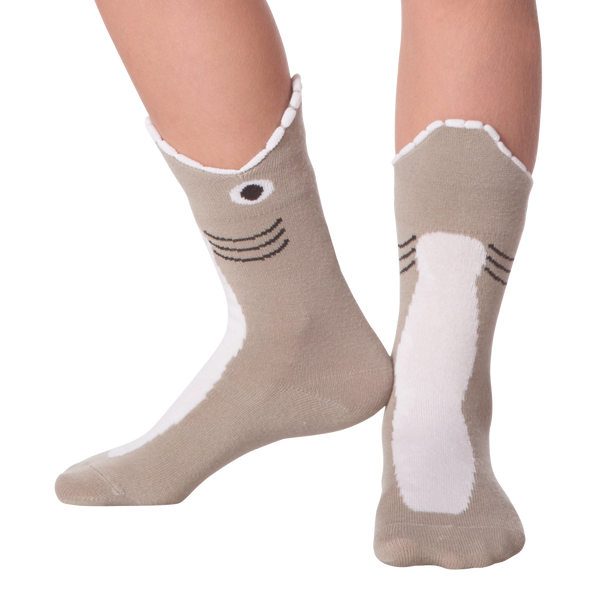 Kid's Wide Mouth Shark Crew Socks