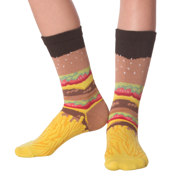 Kid's Burger & Fries Crew Socks
