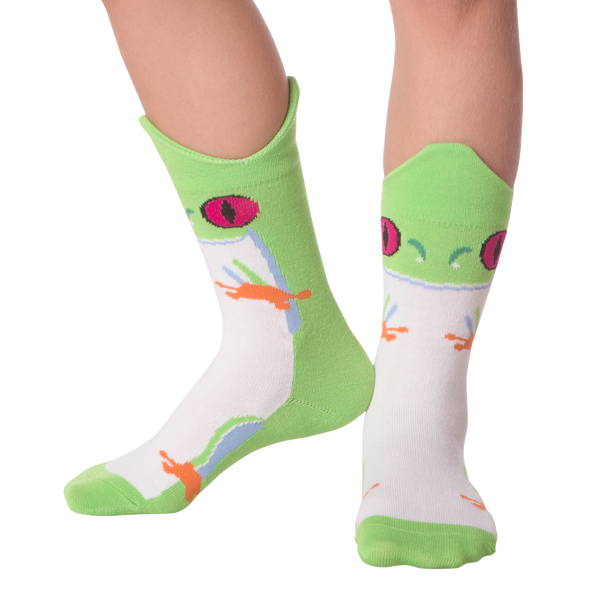 Kid's Wide Mouth Rainforest Frog Crew Socks