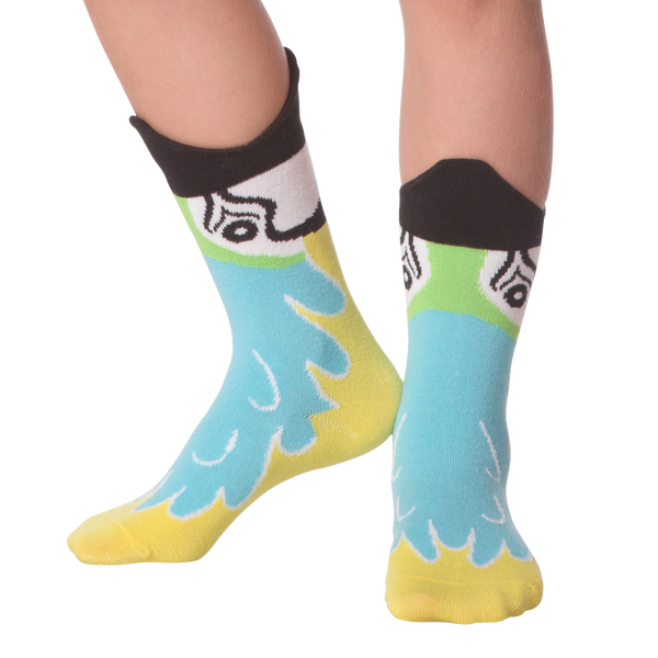 Kid's Wide Mouth Macaw Crew Socks