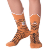 Kid's Wide Mouth Tiger Crew Socks