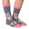 Kid's Sloths Riding Llamas Crew Socks