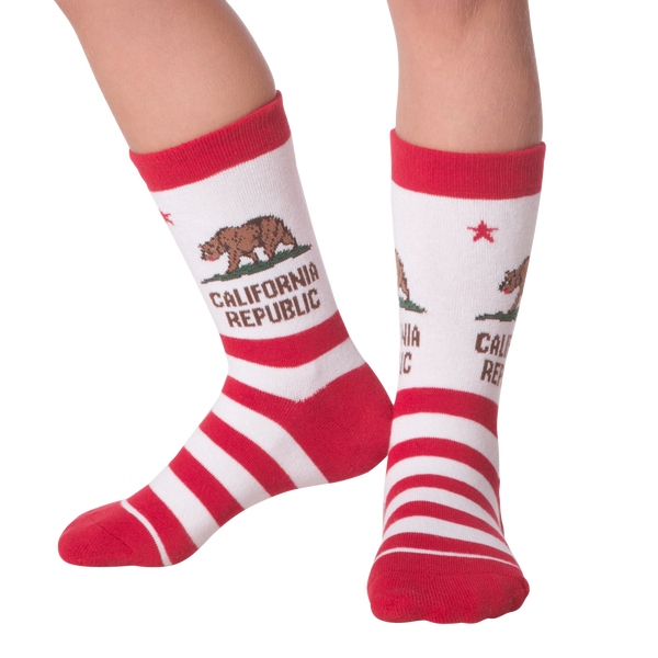 Kid's California Republic Crew Socks - American Made