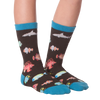 Kid's Tropical Fish Crew Socks