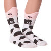 Kid's Wide Mouth Cow Crew Socks