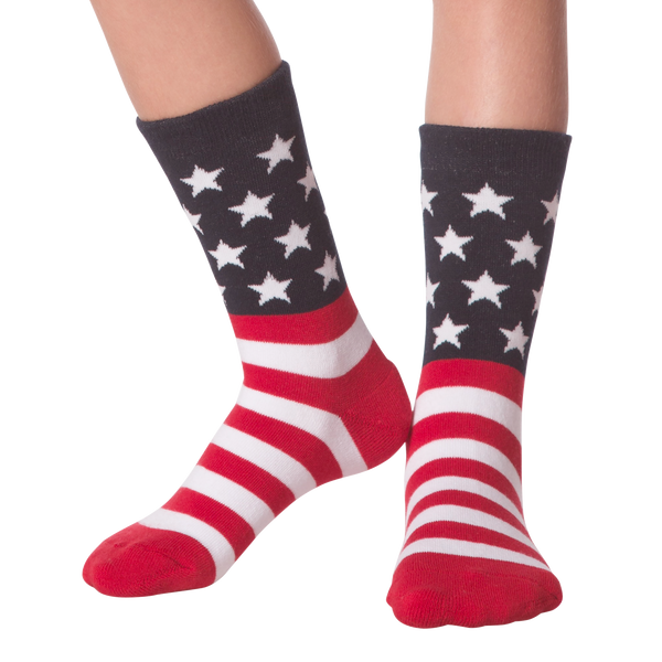 Kid's American Flag Crew Socks - American Made
