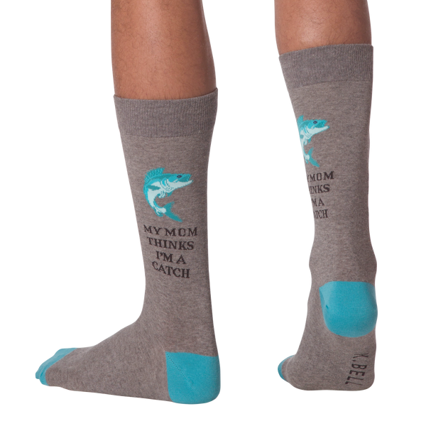 Men's I'm A Catch Crew Socks