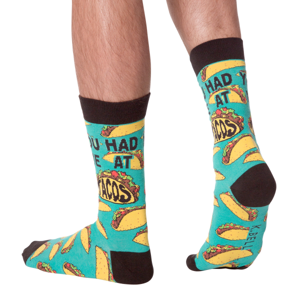 Men's You Had Me At Tacos Crew Socks