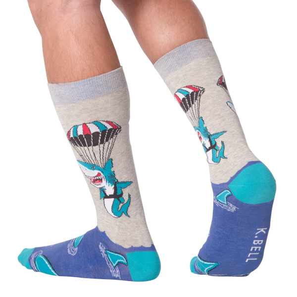 Men's Parachute Shark Crew Socks