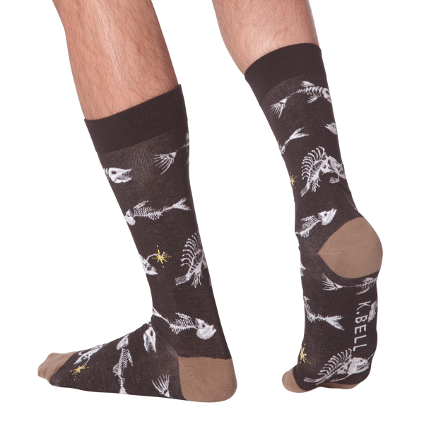 Men's Fishbones Crew Socks