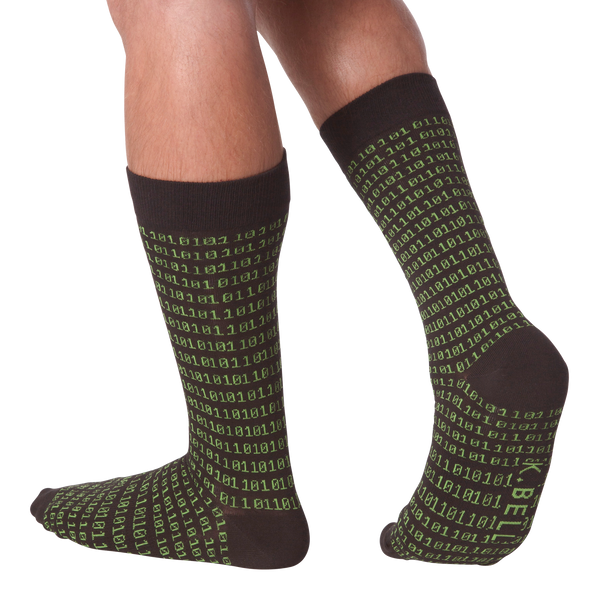 Men's Binary Tech Crew Socks
