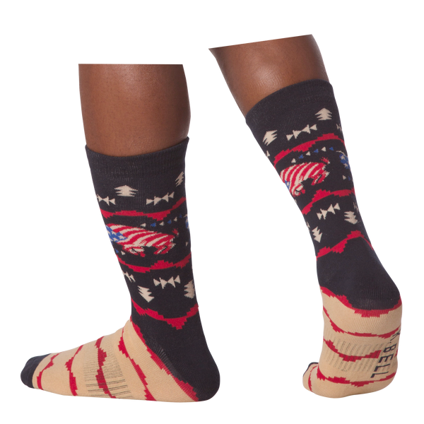 Men's USA Bison Crew Socks - American Made