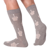Men's Middle Finger Crew Socks