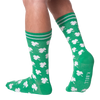 Men's White Shamrocks Crew Socks