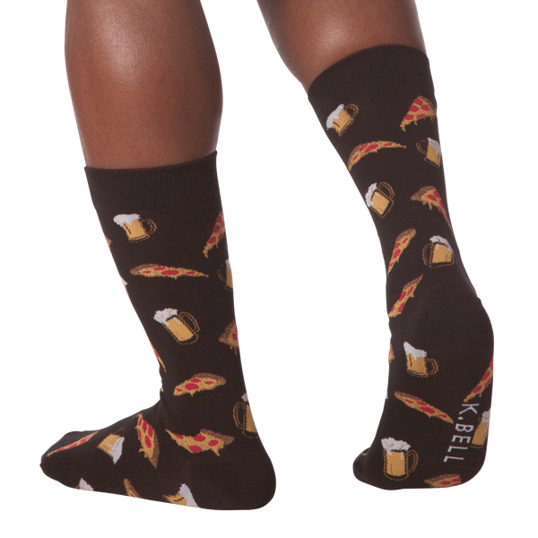 Men's Pizza & Beer Crew Socks
