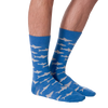 Men's Sharks Crew Socks
