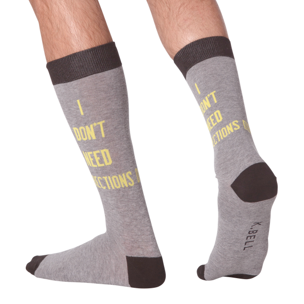 Men's I Dont Need Directions Crew Socks
