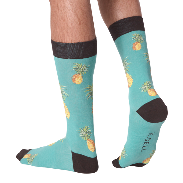 Men's Pineapple Crew Socks