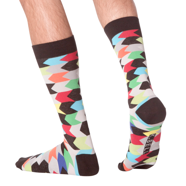 Men's Chevron Stripes Crew Socks