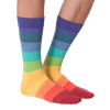 Men's Rainbow Striped Crew Socks