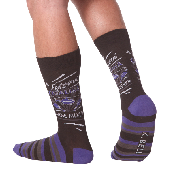 Men's Wine Mixer Crew Socks