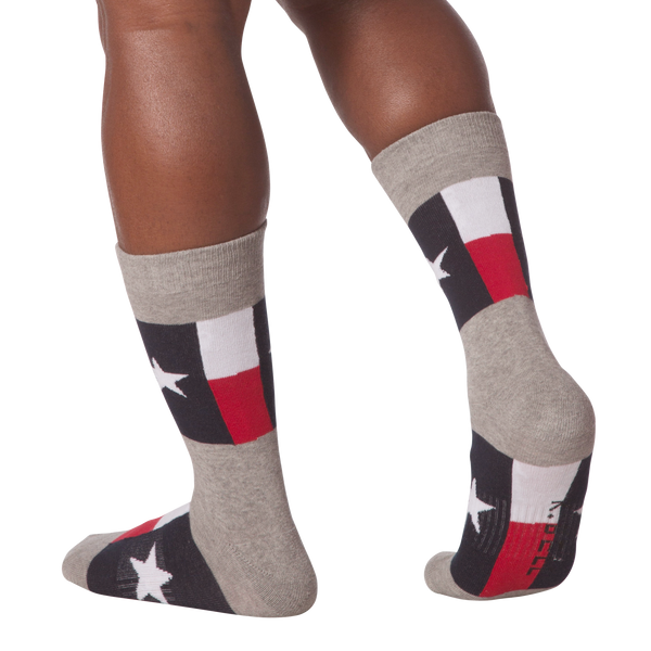 Men's Texas Flag Crew Socks - American Made
