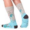 Men's Knight Cat on Narwhal Crew Socks