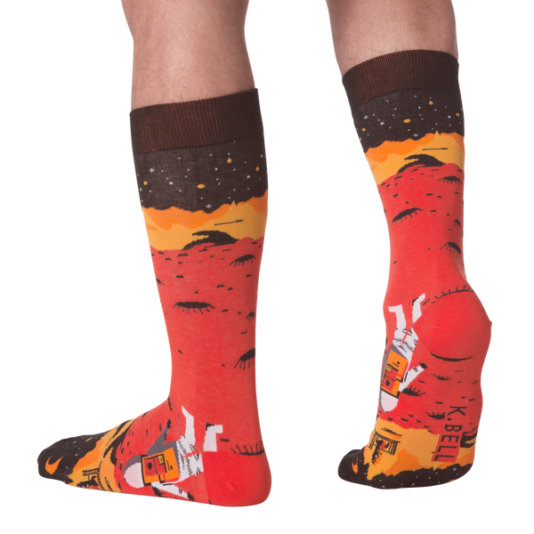 Men's Red Planet Crew Socks
