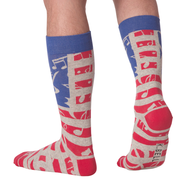 Men's USA Music Crew Socks