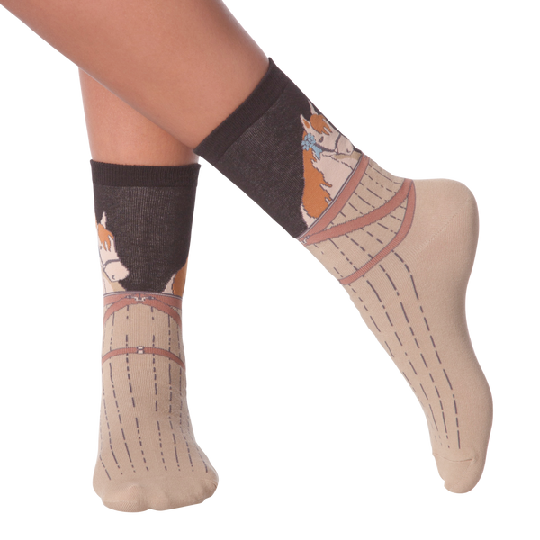Women's Blue Ribbon Horse Crew Socks