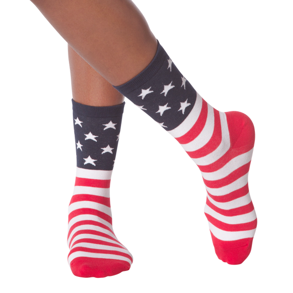Women's American Flag Crew Socks