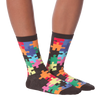 Women's Jigsaw Puzzle Crew Socks
