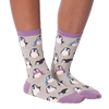 Women's Chilly Penguins Crew Socks