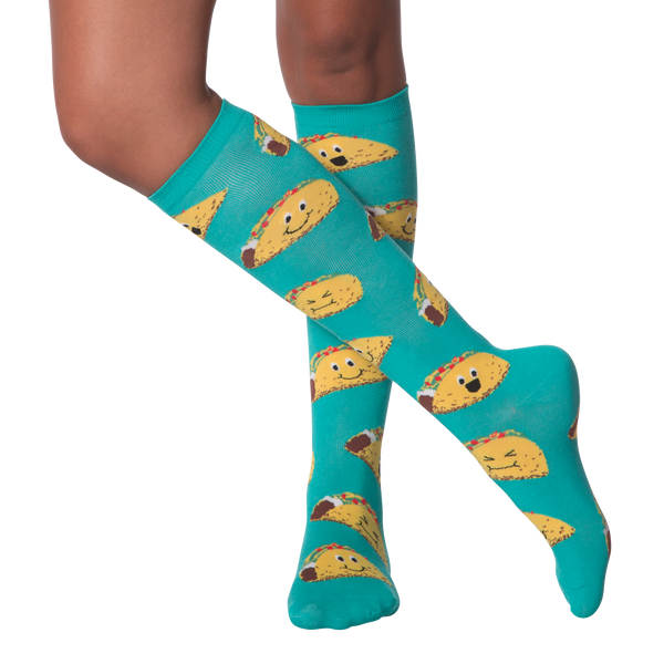 Women's Happy Tacos Knee High Socks