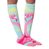 Women's Pink Flamingo Knee High Socks