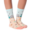 Women's Mermaid Cat Crew Socks