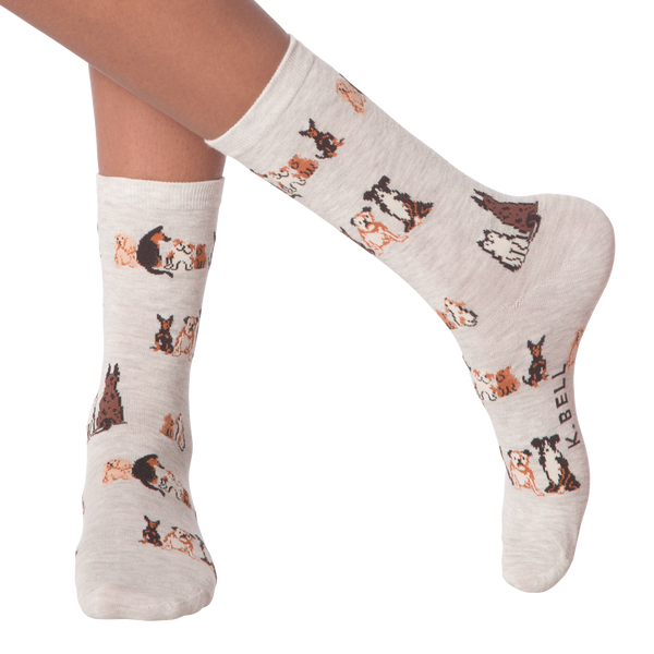 Women's Dogs Sitting Crew Socks