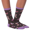 Women's High Heel Crew Socks