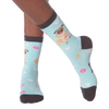 Women's Pug Crew Socks