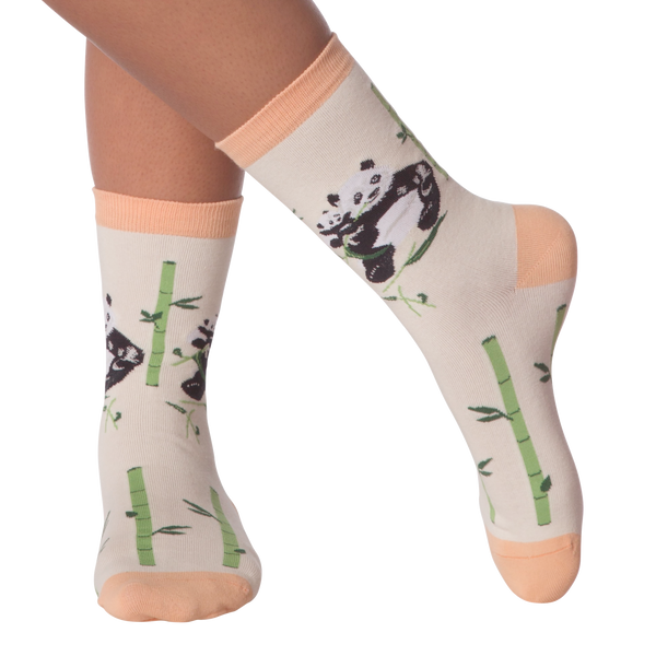 Women's Pandas Crew Socks