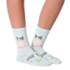 Women's Purrrito Crew Socks