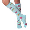 Women's Dia De Los Muertos Knee High Socks