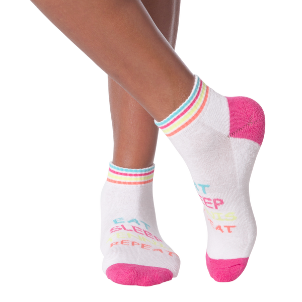 Women's Eat Sleep Tennis Repeat Ankle Socks
