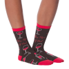 Women's Fifty Sips Of Red Crew Socks