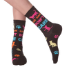 Women's Cat Hair Don't Care Crew Socks